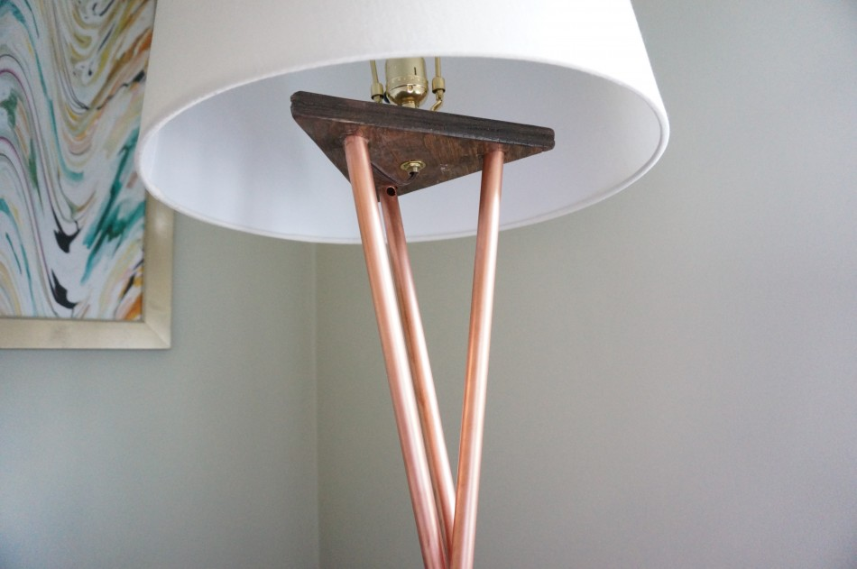DIY Copper West Elm Floor Lamp | HomeWork Design Co.