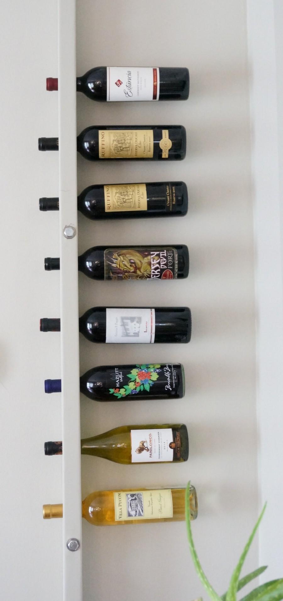 DIY Wall Mounted Wine Rack - HomeWork Design Co.
